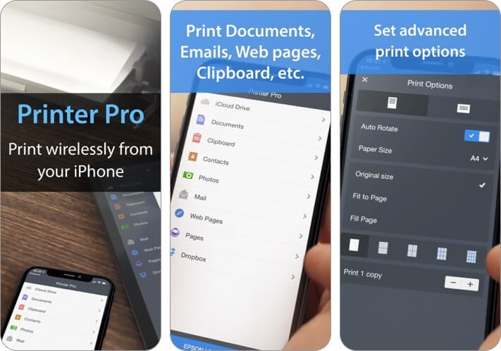 printer pro by readdle iphone and ipad printing app screenshot