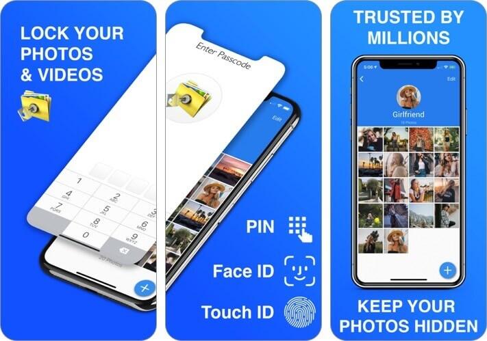private photo vault - pic safe iphone app screenshot