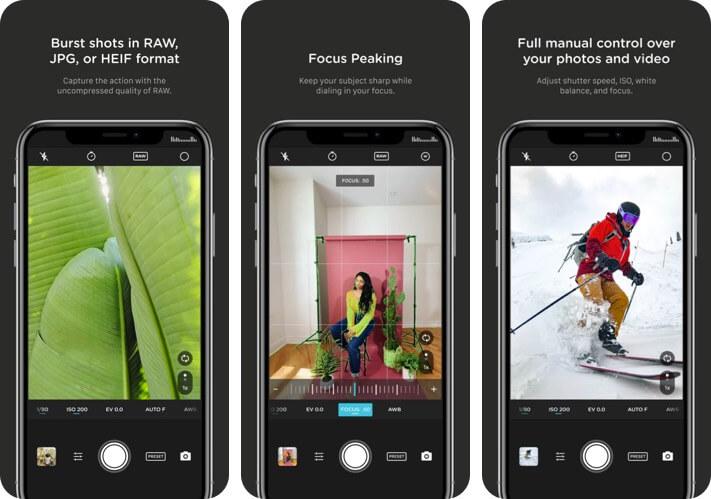 Pro Camera by Moment RAW Photo Editing iPhone and iPad App Screenshot