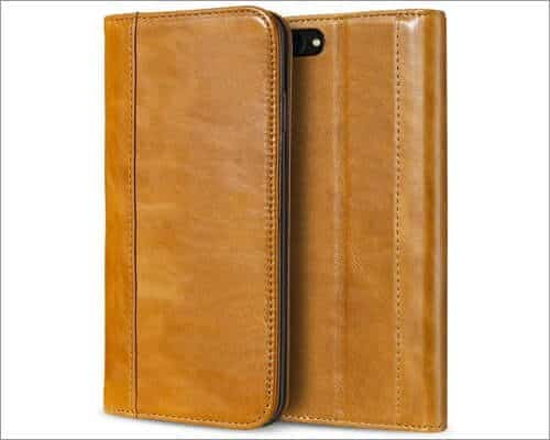 procase vintage wallet case for iphone se 2020