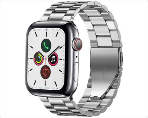 PUGO TOP Apple Watch Stainless Steel Band for Series 6, SE, 5, 4, and 3