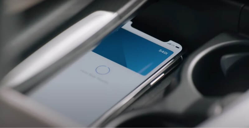 put your iphone on charging pad in car