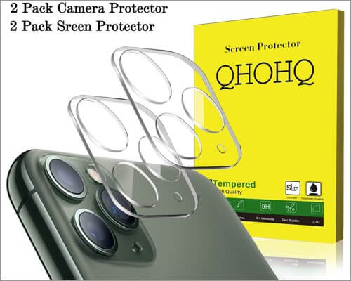qhohq camera lens protector for iphone 11 pro and 11 pro max