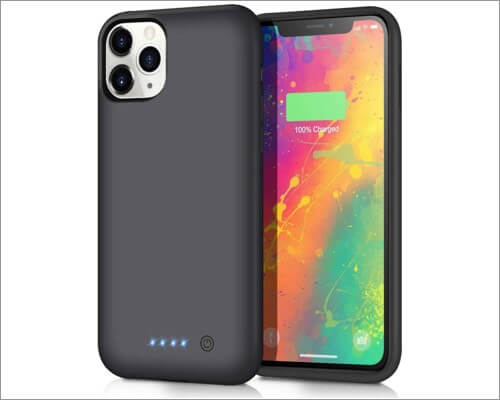 qtshine portable charging case for iphone 11 pro max