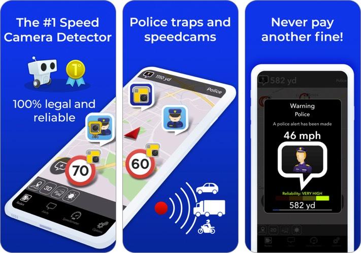 radarbot speedcams detector iphone app screenshot