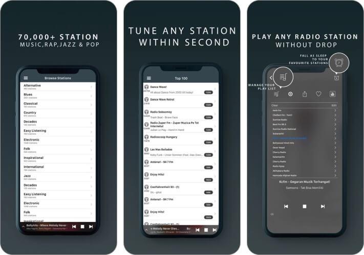 Radio Tuner iPhone und iPad App Screenshot