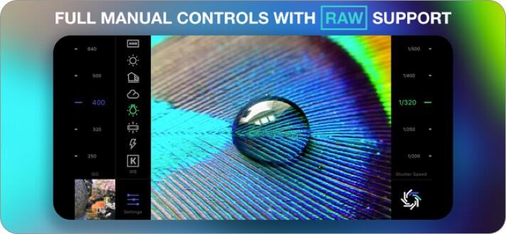 raw manual iphone camera app screenshot