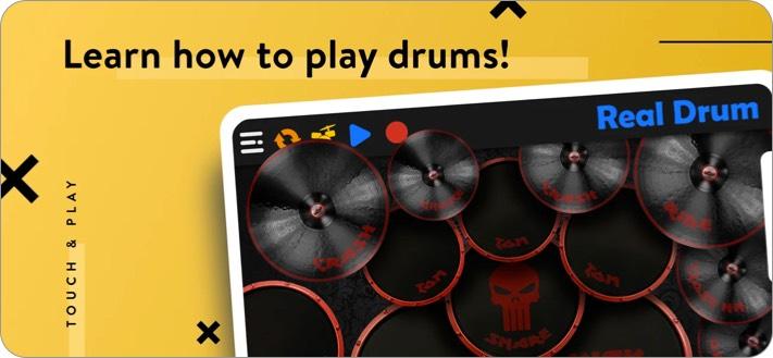 REAL DRUM iPhone and iPad App Screenshot