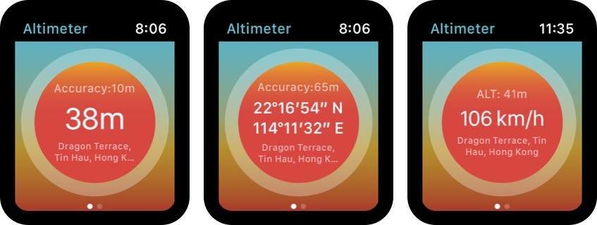 Realtime Altimeter Apple Watch Appl Screenshot