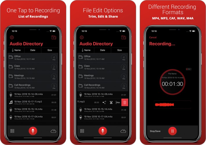 recorder plus iphone call recorder app screenshot