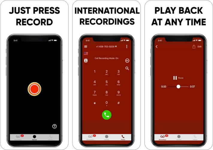 recording app recall iphone call recorder app screenshot