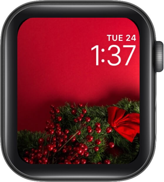 Red Christmas Background Watch Face