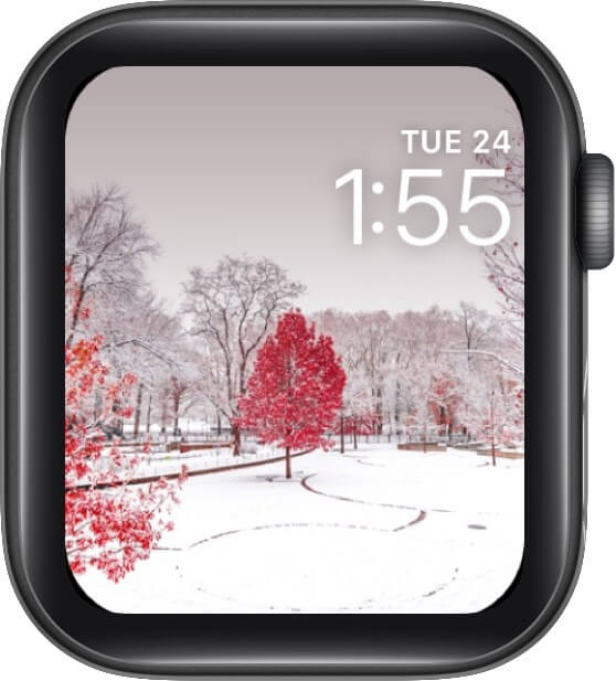Red Christmas or White Christmas Watch Face