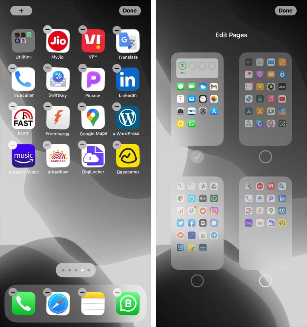 Remove iPhone Home Screen pages
