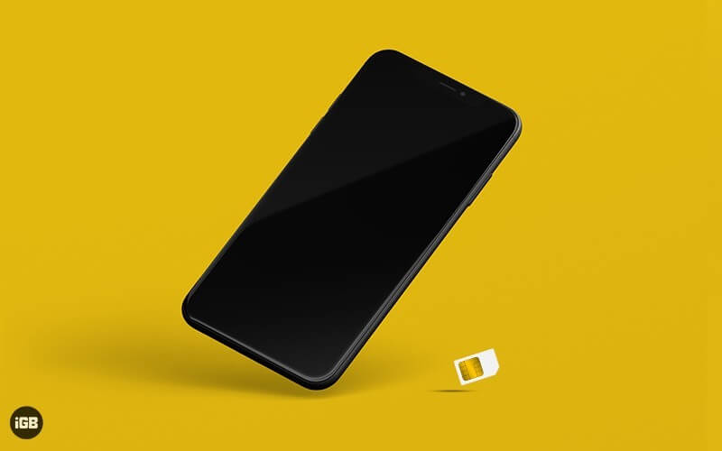 remove iphone's sim card and reinsert it