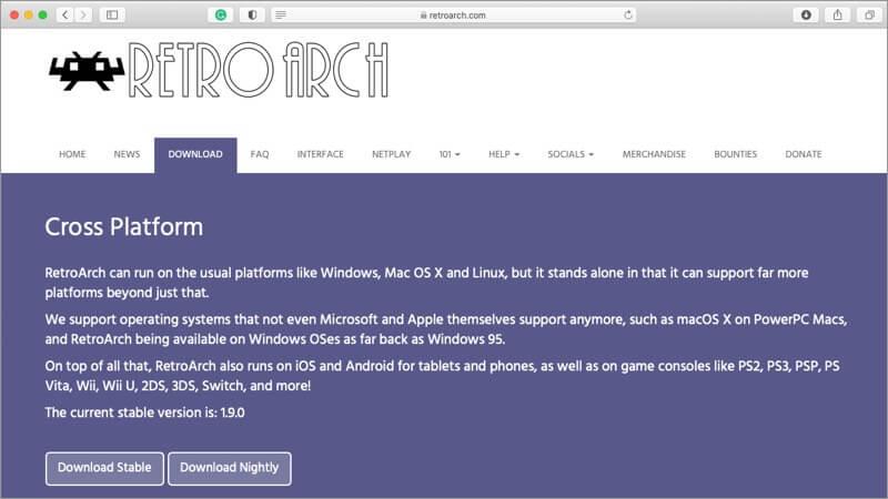 RetroArch Mac SNES Emulator Screenshot