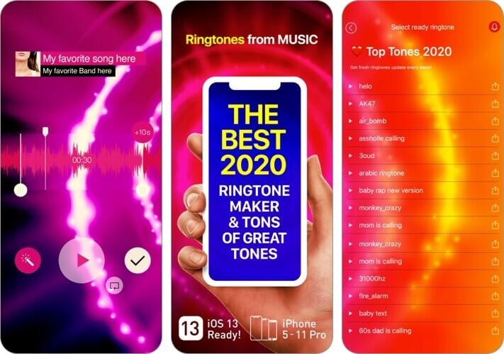 ringtones for iphone! (music) app screenshot