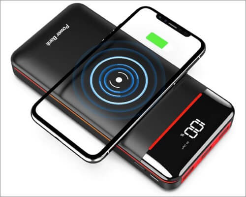 rleron wireless power bank for iphone 11, 11 pro, and 11 pro max