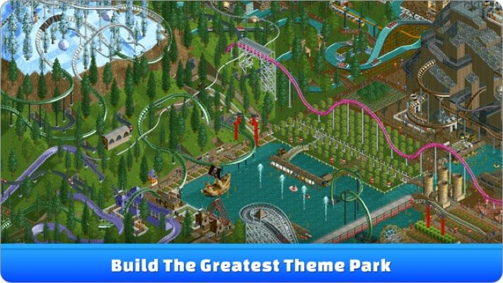 roller coaster tycoon classic simulation iphone game screenshot