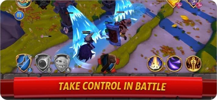 royal revolt 2: tower defense iphone and ipad game screenshot