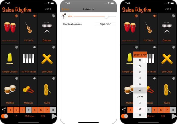 salsa rhythm dance learning iphone and ipad app