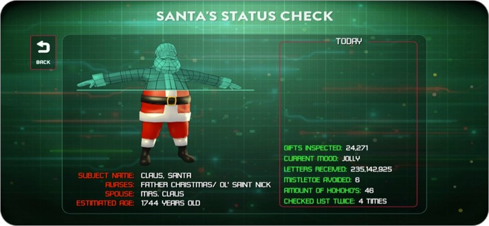 Santa Status Check App for iPhone and iPad