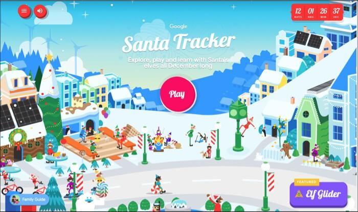 Santa Tracker by Google for iPad iPhone and Mac