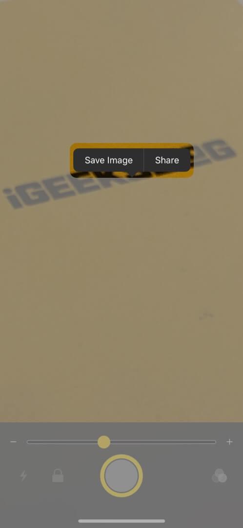 save freeze frame image on iphone
