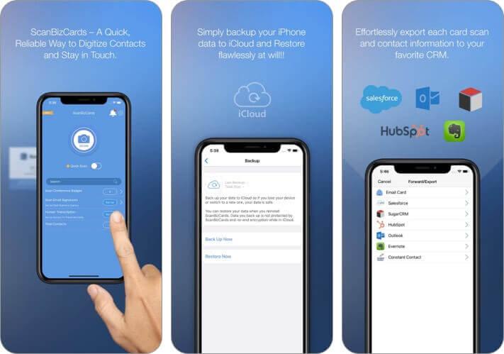 scanbizcards iPhone and iPad App Screenshot