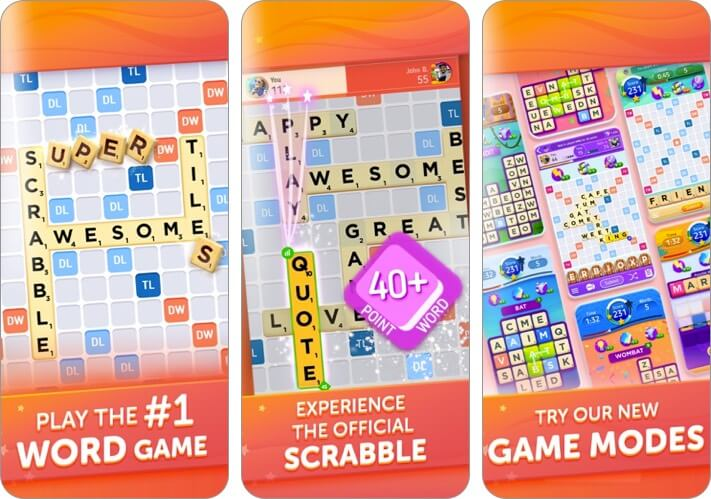 scrabble go iphone and ipad app screenshot
