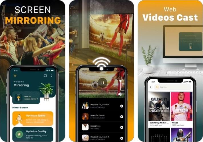 Screen Mirroring TV Cast iPhone and iPad App Screenshot