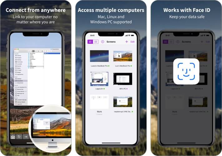screens iphone and ipad remote desktop app screenshot