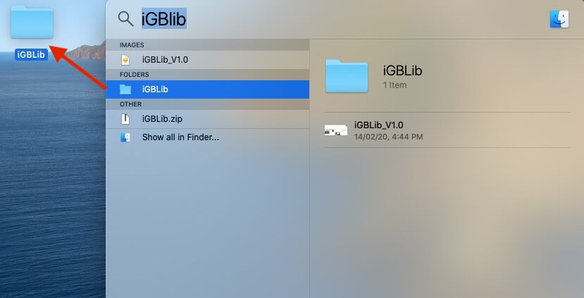 Search and Drag Files or Folders from Spotlight to Copy it on Mac