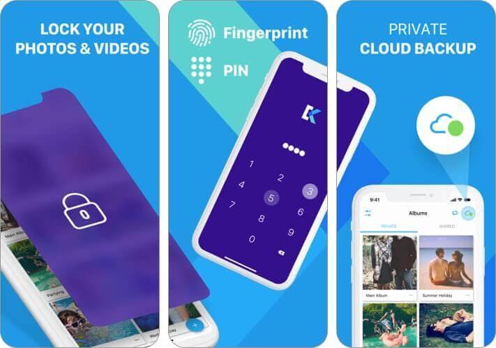 secret photo vault - keepsafe iphone app screenshot