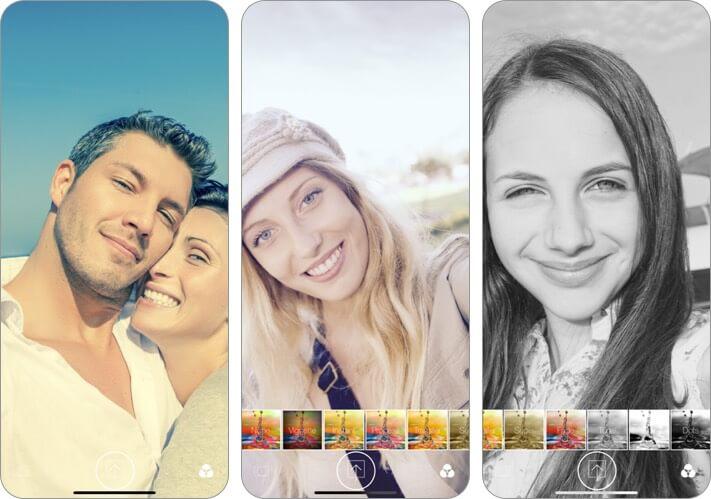 selfie self portrait camera iphone app screenshot