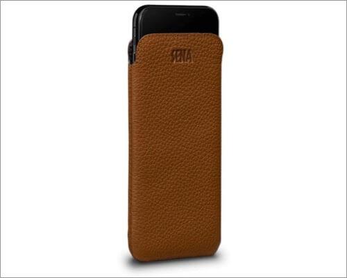 Sena Case slim leather sleeve for iPhone xs