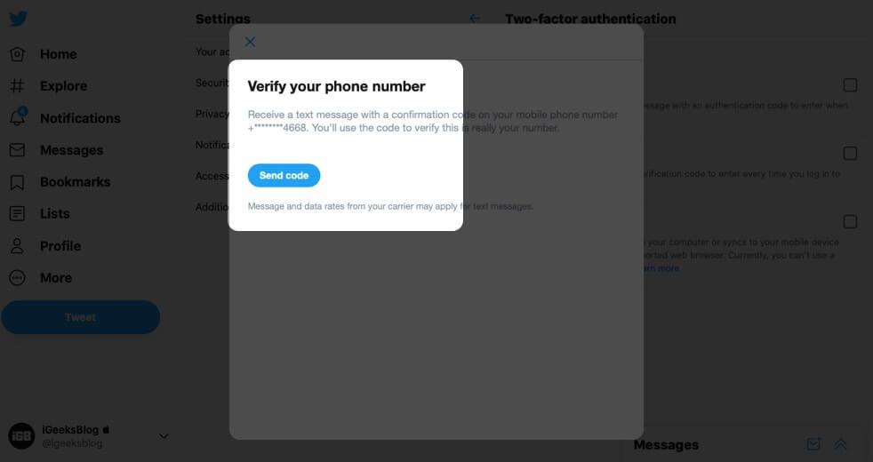 Send Code in Twitter on Mac