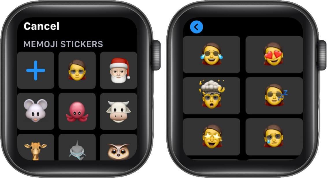 send memoji in messages on apple watch