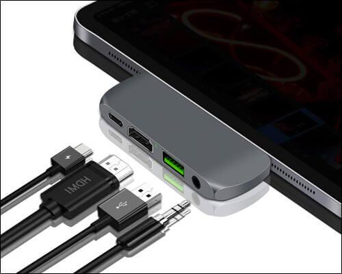 sendcool USB C Multiport Hub for iPad Pro 2018