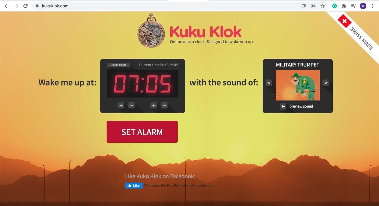 Set an alarm on Mac using Kuku Klok