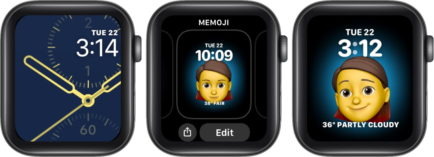 set memoji as watch face on apple watch