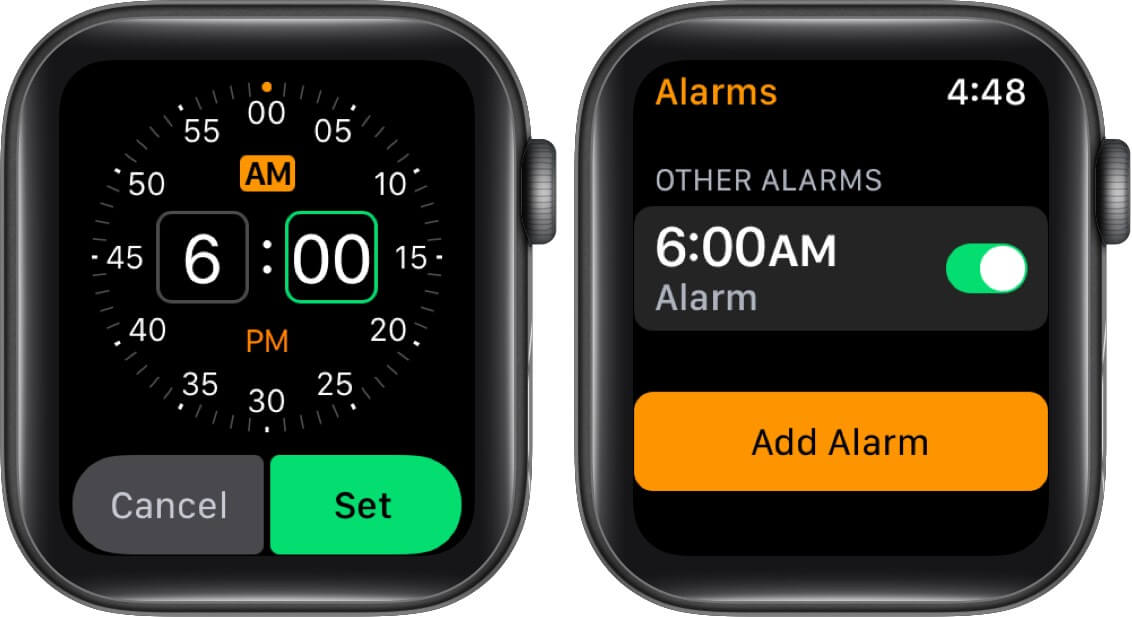 Set up Apple Watch as Nightstand Clock with Alarm
