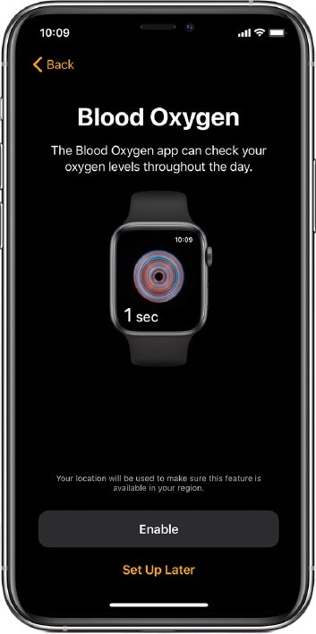 set up blood oxygen app on apple watch series 6