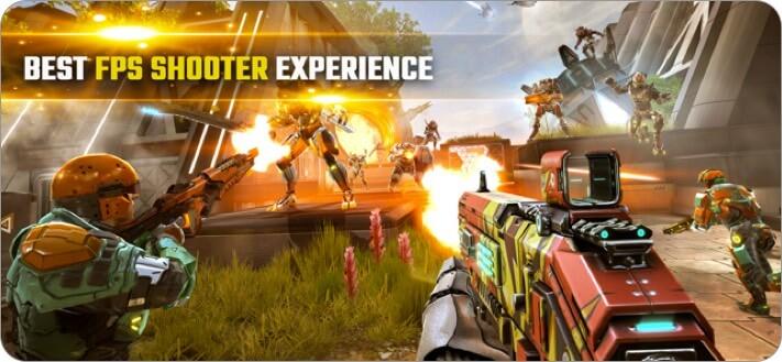 shadowgun legends: online fps iphone and ipad multiplayer game screenshot