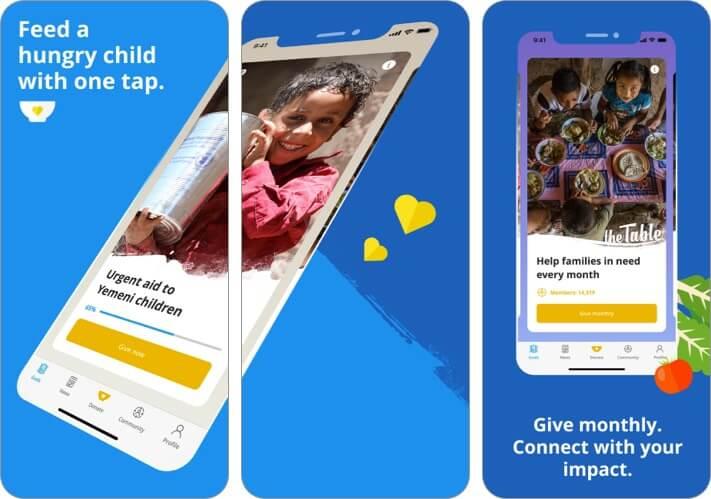 ShareTheMeal iPhone and iPad App Screenshot