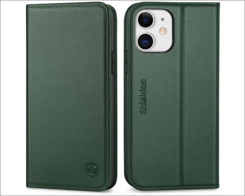 Shieldon Leather Case for iPhone 12 and 12 Pro