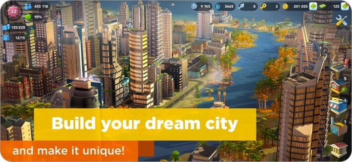 simcity buildit iphone and ipad city building game screenshot