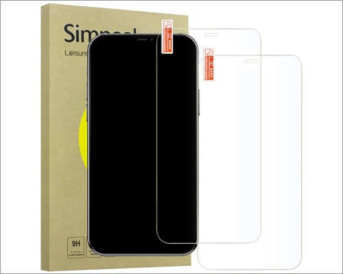 Simpeak Tempered Glass Screen Protector for iPhone 12 Pro Max