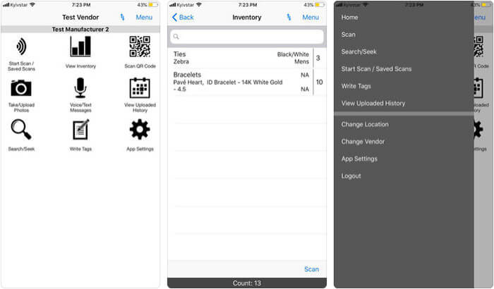 simple RFID iPhone and iPad App Screenshot
