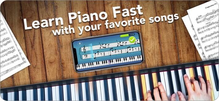 simply piano music learning iphone and ipad app screenshot